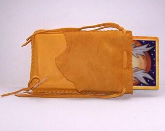 Leather Runes Bag/Tarot Bag...GOLD
