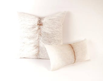 Gray Cowhide Pillow ~ BEST SELLER!