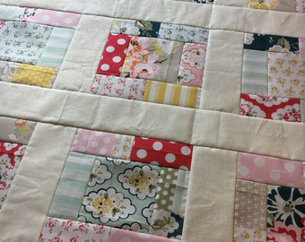Quilt Top - Wiltshire Daisy by Riley Blake Designs Unfinished quilt top - 38 x 38 inch / gift for her / DIY / ready to quilt / floral pink