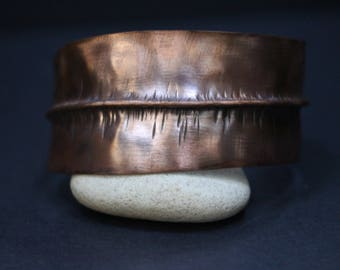 Copper Foldformed Narrow Cuff