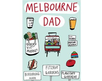 Father's Day Card - Melbourne Dad