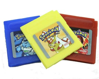 Soapemon Gameboy Cartridge Soap Set, Retro Video Game Geek Gift