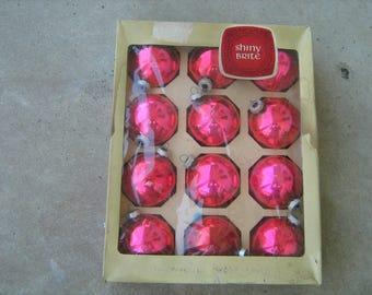 box of 12 shiny brite christmas ornaments