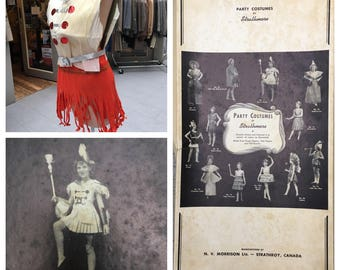 1930's Party Costumes by Strathmore Crepe Paper Drum Major - Dennison Competitor