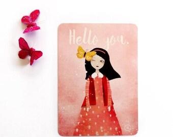 30% Off - Summer SALE Hello you - Postcard