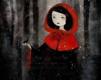 10% Off - Summer SALE Little Red and the Wolf 82/100 - Deluxe Edition Print