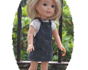 14.50 inch Doll Clothes will fit Dolls such as Wellie Wishers - Jumper Outfit - Paris Theme