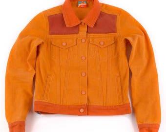 Women's Orange Denim Jacket
