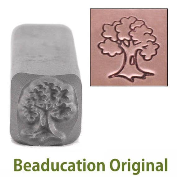 Tree Metal Design Stamp 7mm wide by 8mm high - Beaducation Original
