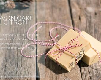 Vegan lemon & lavender soap // CAKE AU CITRON // Savon naturel végan citron et lavande