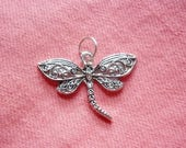 Silver Dragonfly Pendant charm