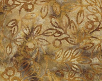 "SALE Gold Kapalua Batik Fabric - 35"" x 44"" - Moda - 4320 29"