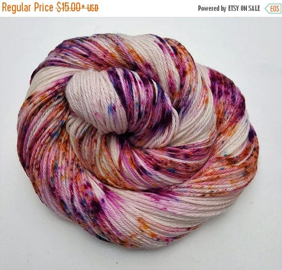 4th of July Sale Mistakes & Margaritas- 100% Cotton, Hand Dyed, Variegated, Speckled, Hand Painted Yarn