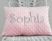Minky Baby Pillow  INSERT INCLUDED  Baby Gift Shower GiftPersonalized Pillow Personalized Gift