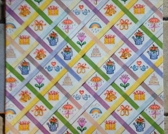 Ribbon Quilt Bridal Shower Gift Wrap by American Greetings