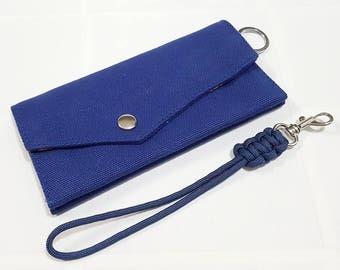 Wallet, Travel wallet, Cellphone Pouch, Cellphone Case, Handy Wallet, Canvas Wallet, Chain Wallet, Gift for Men, Gift Under USD15 - CS