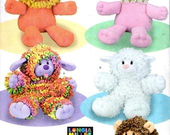 Simplicity 4222 Sewing Pattern - Stuffed Animals - Stuffed Puppy Lamb Bear Lion Cat
