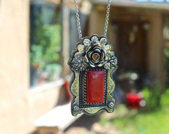 Rosearita and Rose Talisman Necklace