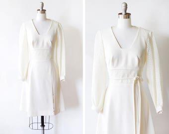 1960s mod dress, vintage 60s crochet lace dress, ivory white mod long sleeve mod scooter dress, babydoll dress with hot pant shorts, small s