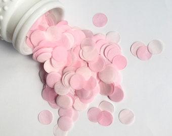 BLUSH PINKS tissue paper confetti circles wedding exit send off toss engagement photo prop flower girl petals cake dessert table decoration