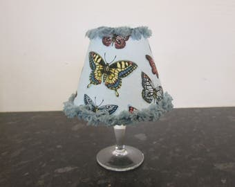 Beautiful butterfly lamp with fabric shade