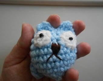 Chibi Chubby Tubby Cat Blue Crochet