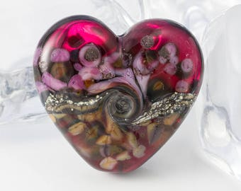 Heart Lampwork Bead