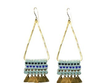 Tapestry Temple Earrings