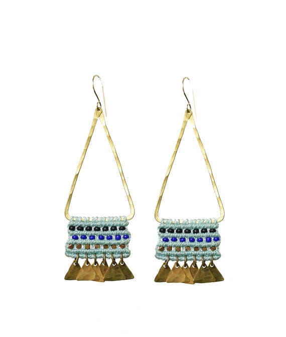 Tapestry Temple Earrings