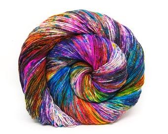 """Acoustic Sock Yarn - """"Supernova"""" - Handpainted Superwash Merino - 400 Yards"""