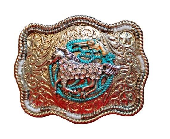 Western Rhinestone Horse Belt Buckle, Women's Western Belt Buckle, Western Belt Buckles