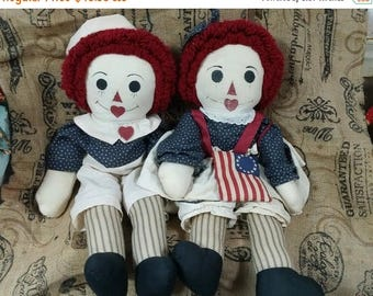 on sale americana Raggedy Ann and Andy Dolls