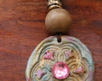 super sale handmade clay necklace