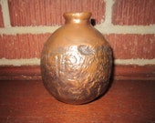 Vintage Mid Century Modern Hand Crafted Copper Vase