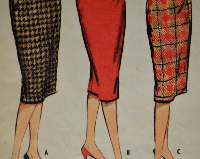 1950s McCalls Skirt Pattern, Skirt Pattern, Pencil Skirt Pattern, Wiggle Skirt Pattern, Women's Skirt Pattern, Pattern, No 5082,