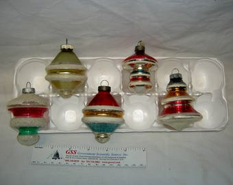 """Vintage """"Lantern-Style"""" Christmas Ornaments (Groups of 5)"""