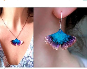 Ready to ship sale Buy Ginkgo necklace and get the earrings for you, free!