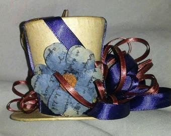 OOAK ~ Top Hat Ornament/Hanger