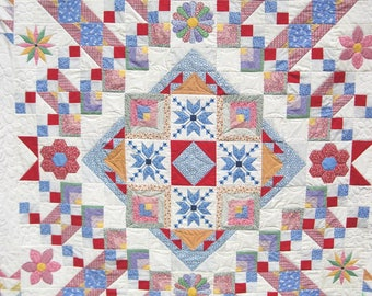 Lay away downpayment for Connie. Quilt Twin Double Lap Patchwork Thirties Sampler reproduction Quiltsty  Handmade