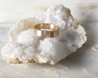 Brushed Midi Ring