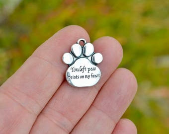 1  You left paw prints on my heart Silver Charm SC4104