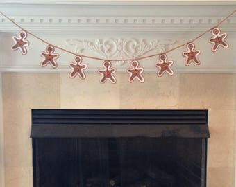 Gingerbread Man Christmas Garland Bunting, Gingerbreadmen Decoration