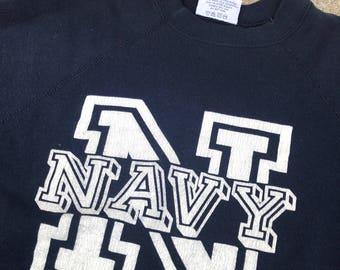 The Vintage 50/50 Blue US Navy Crewneck Sweatshirt
