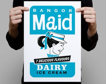 Bangor Maid Ice Cream A3 Artprint