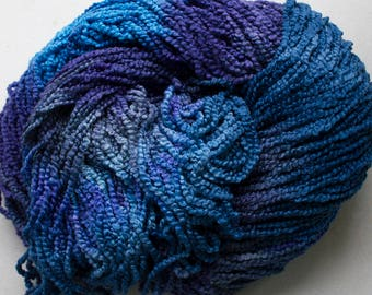 Puffin, Hand dyed cotton yarn, 8oz, 370 yds - Night Sky