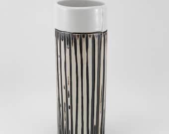 Ceramic Flower Vase, Handmade Vase, Pottery Vase, Textured pottery, Cylinder Vase