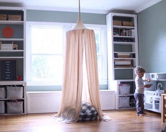 Play Canopy - Tan - Natural - Hanging Play Tent