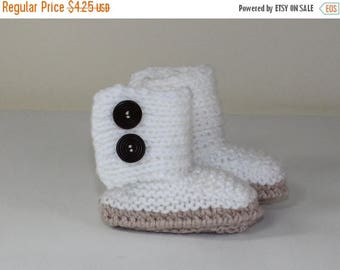 40% OFF SALE Instant Digital File pdf download knitting pattern Baby Chunky Button Up Booties