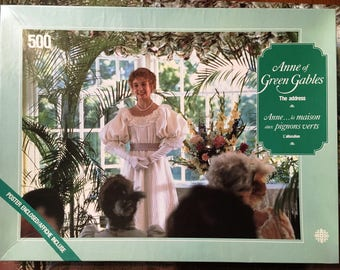 "Anne of Green Gables Jigsaw Puzzle 500 Pieces Complete ""The Address"" LM Montgomery Megan Follows Sullivan Productions Excellent Condition"