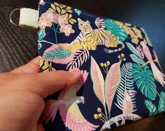 Pastel Jungle Handbag /Cosmetic Bag